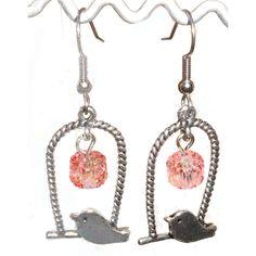 #ladybird2turtle #pinadaysep #swing $15.00 Little swinging bird earrings on Handmade Australia
