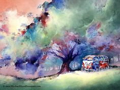 The Art of Michael David Sorenson A 23 Window VW Bus at Rest | Flickr - Photo Sharing!