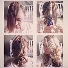 the fastest way to curl your hair in the morningperfect for school mornings #Padgram