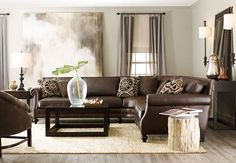 Greenery can add not only color, but simple elegance, especially with a neutral toned color room