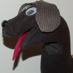 Dog sock puppets making photo guide with instructions on how to make ...300 x 300 | 22 KB | www.knickersockerglory.com