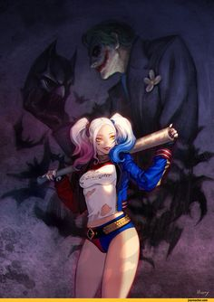 Harley Quinn,DC Comics,fandoms,Joker,Fan Art,Suicide Squad