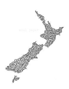 New Zealand Map Art
