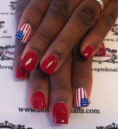 American Flag Nails