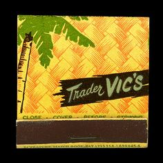 """1940's Trader Vic's-Oakland, Ca   Herb Caen affectionately described the original Trader Vic's: """"The best restaurant in San Francisco is in Oakland.""""  Always went with my parents as a child - what an adventure!"""