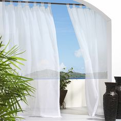 Commonwealth Home Fashions Outdoor Décor Escape Outdoor Hook & Loop Top Single Curtain Panel