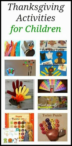 Thanksgiving Activities for Children {moms library 11-12} by FSPDT