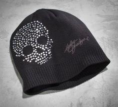 Women's Crystal Skull Knit Hat #HDNaughtyList
