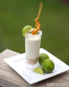 Tequila lime pie shooters