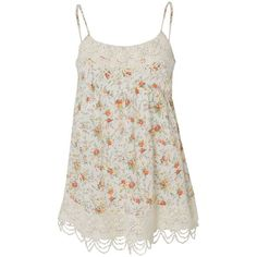 Frock & Frill Strawberry Floral Camisole Top ($24) ❤ liked on Polyvore