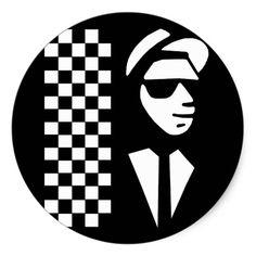 Shop Ska Classic Round Sticker created by pop_music. Skinhead Tattoos, Music Birthday Cakes, Ska Music, Ska Punk, Smart Art, Rude Boy, Friendship Gifts, Friend Birthday, Round Stickers