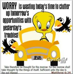 Best explanation of worry I have seen....and a very good reason not to!
