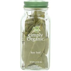 Simply Organic Bay Leaf Certified Organic, 0.14-Ounce Container (23 BAM) ❤ liked on Polyvore featuring food, fillers, food and drink, items and beauty