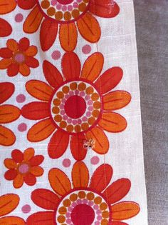 vintage 1970s curtains