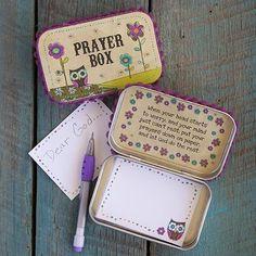 No tutorial here - just n idea: Altoids Tin Prayer Box | Wonderful for children.