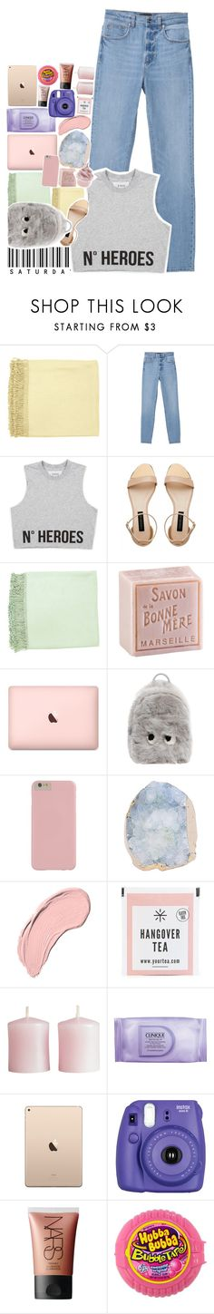 """The visions take their toll."" by biteesizedd ❤ liked on Polyvore featuring Surya, Monki, Forever New, L'Occitane, Anya Hindmarch, NYX, H&M, Clinique, Fujifilm and NARS Cosmetics"