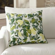 "Lemons 20"" Sq. Outdoor Pillow"