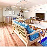 Lounge,冷蔵庫,吹き抜け,古材,アメリカン,新築に関連する他の写真
