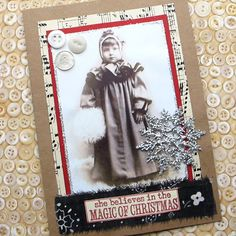 Handmade Christmas Card She Believes in the Magic of Christmas
