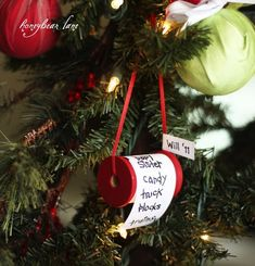 christmas wish list ornament | +25 Beautiful Handmade Ornaments