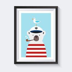 Drucke & Plakate - A4 Poster Kinderzimmer Bild, Kinder Poster maritim - ein Designerstück von SmoX_Poster_Shop bei DaWanda - in cooperation designed by vecteezy.com