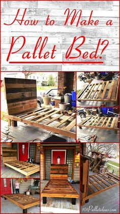 How to Make a Pallet Bed ??? | 101 Pallet Ideas #pallets #palletbed