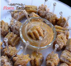 Mini churros de doce de leite, receita incrível uma das melhores, tem uma textura um pouco mais macia e um sabor bem suave e crocante por fora