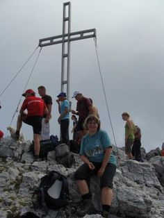on our highest peak, Hochtor 2369m, we did it!!