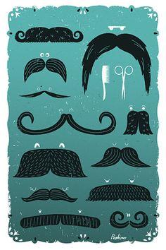 Peskimo - Moustaches / http://www.synergyart.co.uk