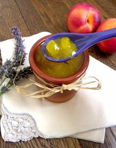 Compote de nectarines jaunes à la lavande #vegan #sansgluten #gf  @rosenoisettes #rosenoisettes @Mj0glutenVG #0-GlutenVegeBrest #Compote #nectarines #lavande