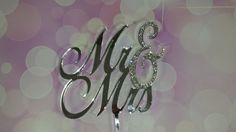 Ready To GO Mr & Mrs Wedding Cake Topper by SpectacularEvents, $35.00