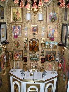 A personal prayer closet. Heavily influenced by Eastern Christianity.