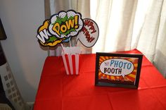 Photo Booth for a Super Hero Party #superhero #photobooth