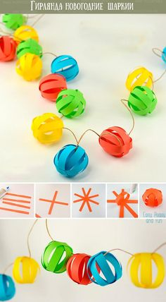 Diy Paper Decorations Garland 59 Ideas DIY Papier Dekorationen Girlande 59 Ideen This image has get Diy Party Decorations, Paper Decorations, Origami Decoration, Paper Garlands, Home Decoration, Valentine Decorations, Kids Crafts, Preschool Crafts, Holiday Crafts