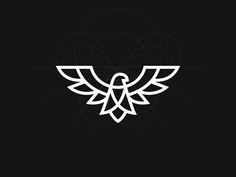 Eagle Grid by Kakha Kakhadzen Popular Eagle Tatto, Eagle Logo, Logo Branding, Branding Design, Brand Identity, Ideas Para Logos, Logo Animal, Eagle Icon, Logo Marketing