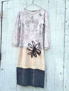 a little Summer Romance - romantic Funky  Eco Tattered Floral Mini Dress by CreoleSha