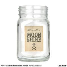 Personalized Moonshine Mason Jar