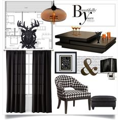 home in houndstooth on Polyvore