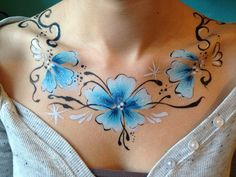Body paint necklace