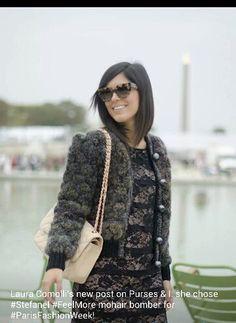 Laura comolli wears stefanel feelmore!