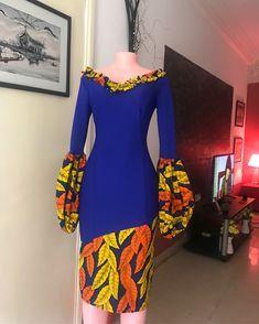 Beautiful Plain And Patterned Ankara Designs 2019 African Fashion Ankara, Latest African Fashion Dresses, African Print Fashion, Africa Fashion, Ankara Dress Styles, African Print Dresses, African Dress, African Prints, African Fabric