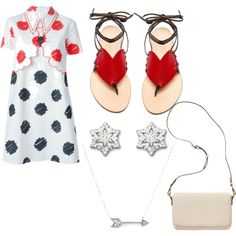 Featuring  fashion style VIVETTA Cornetti Old Navy Swarovski Adina Reyter