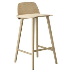 Muuto Danish and Scandinavian Oak Wooden and Timber Veneer Nerd Bar Stool   Urban Couture - Designer Homewares & Furniture Online