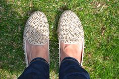 A Hint of Moxie: Spiked Prep #stevemadden #loafers #shoeaddict #spikes