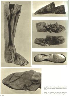 The silk burial stockings of king John III of Sweden, d. 1592 (and his black velvet shoes with silver-gilt soles!) Link includes instructions given for knitting your own pair. Keskiaikavaatteet, Tekstiilit, Luovaa Taidetta, Luovuus, Sukat, Historia, Ruotsi, Musta