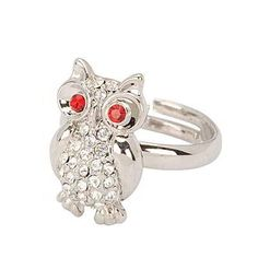 Korean Vintage Persoanlity Fashion OWL Decorated With CZ Diamond Openings Design Rings (Silver) General. Fashionable with passion REPIN if you like it.😊 Only 124 IDR