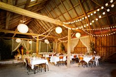 I kinda want my wedding reception to be like this. Magical Wedding, Perfect Wedding, Dream Wedding, Second Weddings, Simple Weddings, Barn Parties, Colorful Party, Get The Party Started, Indoor Wedding