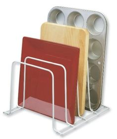 Cookie sheet organizer! Amazon.com: Better Houseware Large Organizer White: Home & Kitchen $9.41