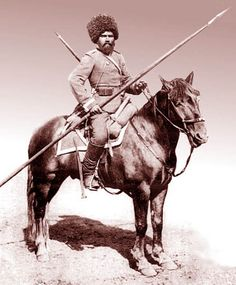 Cossack - Russians moved across their region's vast plains to the Caspian Sea and the Ural Mountains. By the sixteenth century, they moved into Western Siberia. Peasant adventurers (cossacks) were recruited to occupy the new lands.