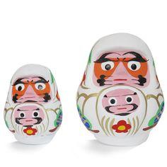 親子だるま -民芸series1- Kitsch, Daruma Doll, Design Lab, Handicraft, Neko, Folk Art, Objects, Japanese, Illustrations